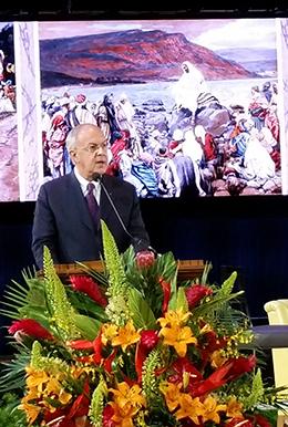 Carl Anderson al dirigirse a la audiencia durante la Convocatoria de Líderes Católicos que se llevó a cabo del 1 al 4 de julio.