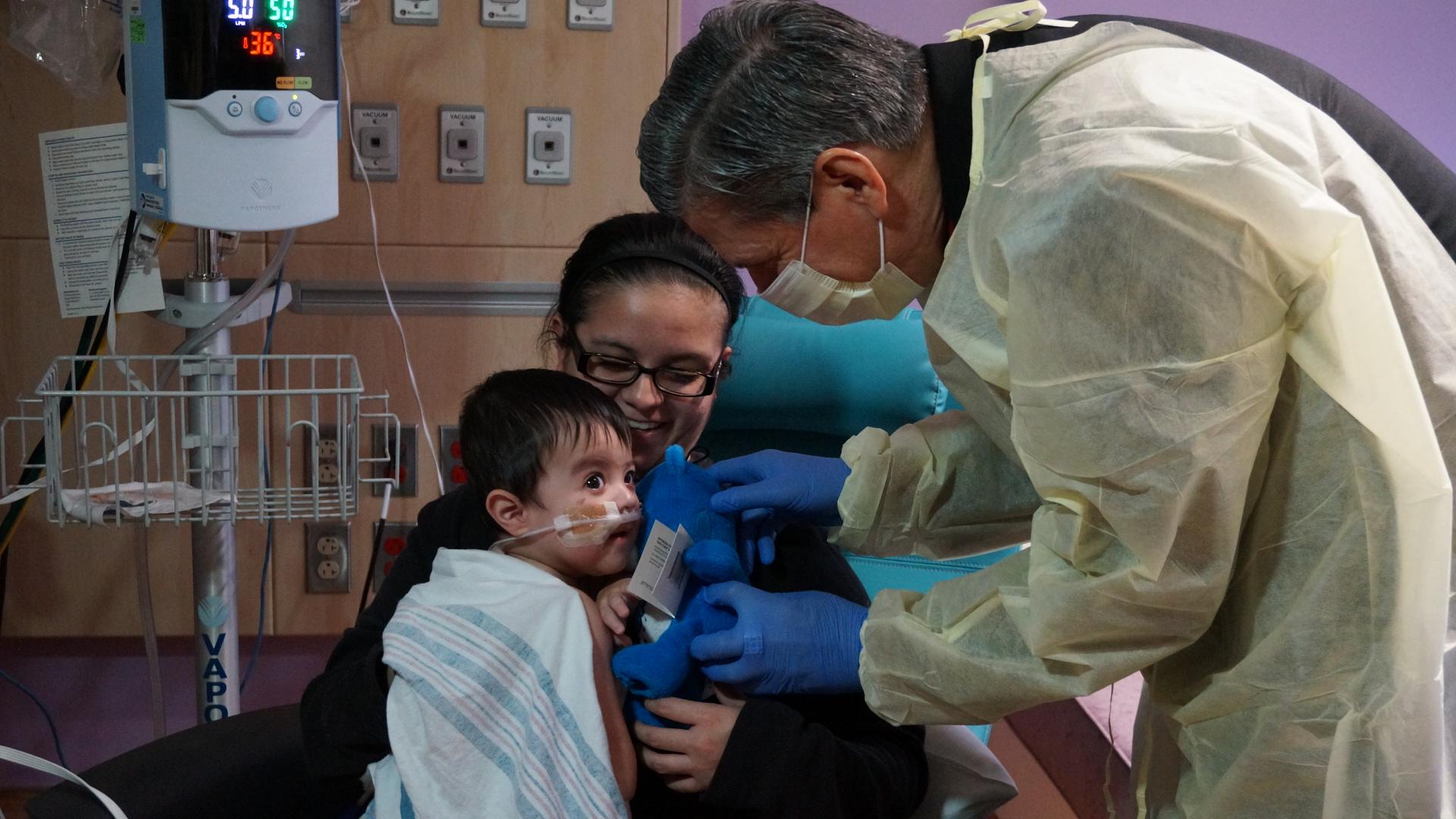 Archbishop Gustavo visits CHRISTUS Children's Hospital