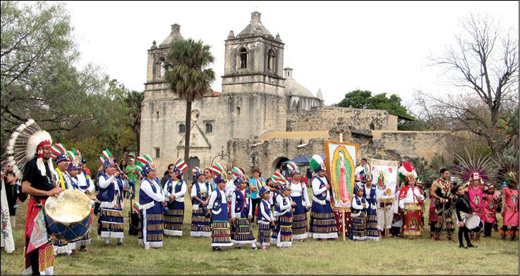 Danza Matachines honors Mary at Mission Concepción