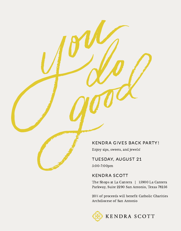 Save the Date! Kendra Scott Gives Back Party