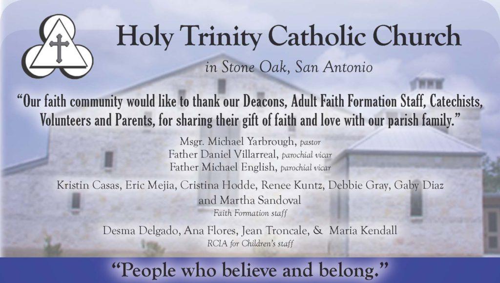 Holy Trinity SA 2018 - half page
