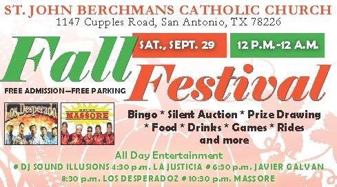 St John Berchmans Fall Festival 2018 - eighth page