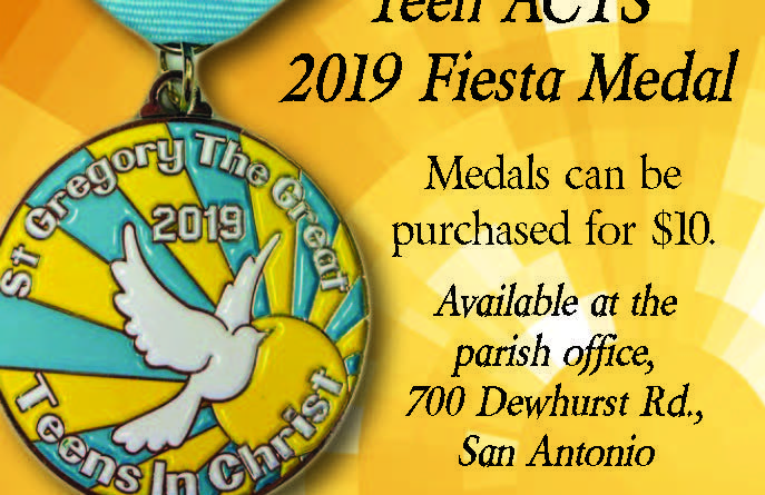 St. Gregory Teen ACTS 2019 Fiesta Medal