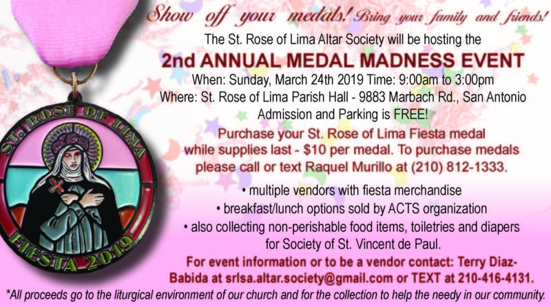 St. Rose of Lima 2nd Annual Medal Madness Event