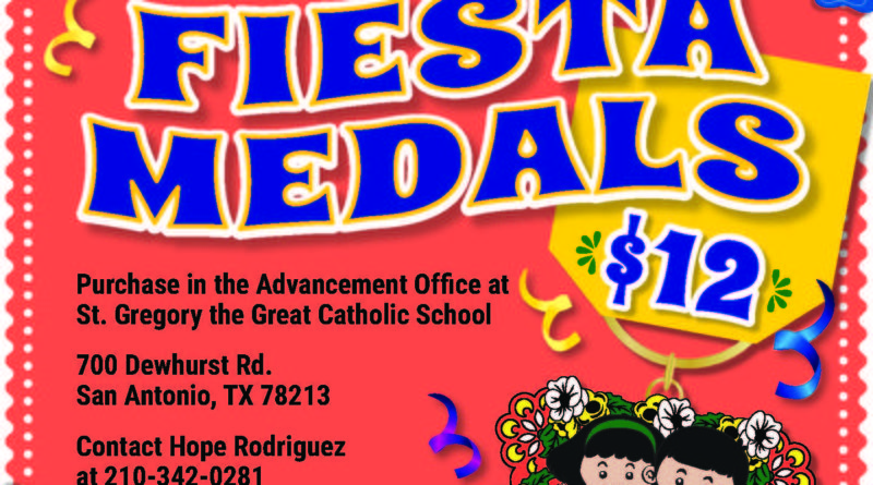 St. Gregory the Great Catholic School 2019 Fiesta Medal