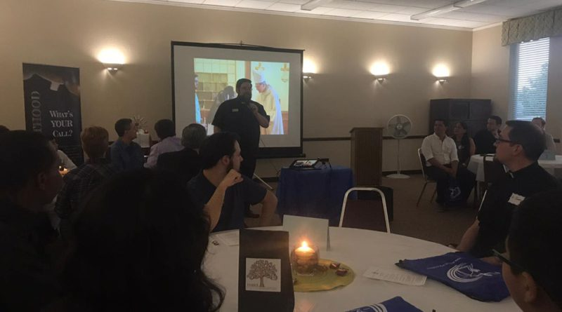 Young men hear stories of priests, brothers, and seminarians at Andrew Dinner