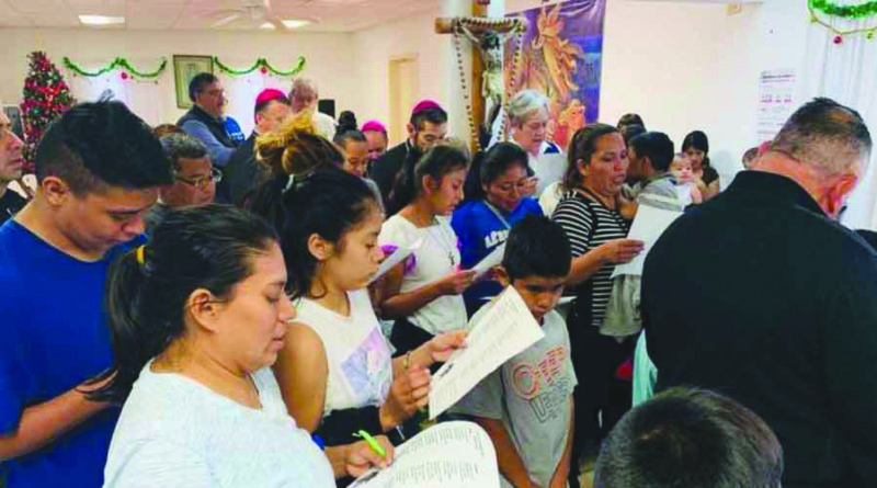 Border bishops celebrate Posadas with migrants at Mexican shelter