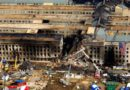 The crash scene at the Pentagon is viewed from above following the terrorist attack on Sept. 11, 2001. (photo: Photo courtesy of the Department of Defense)